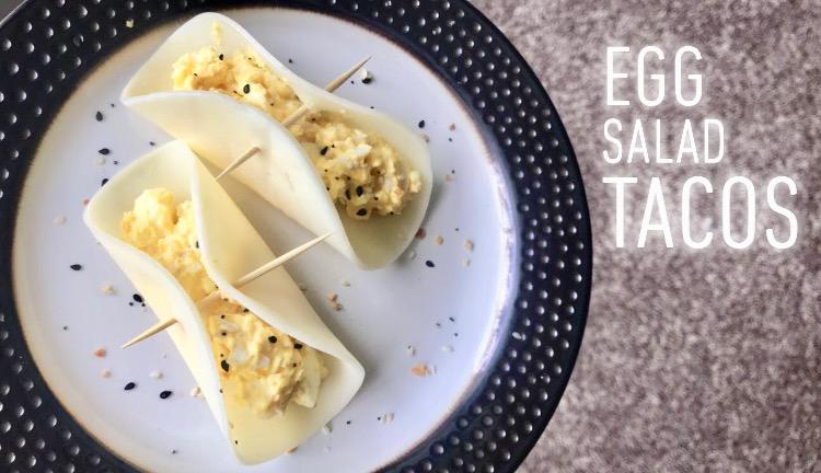 keto egg salad tacos