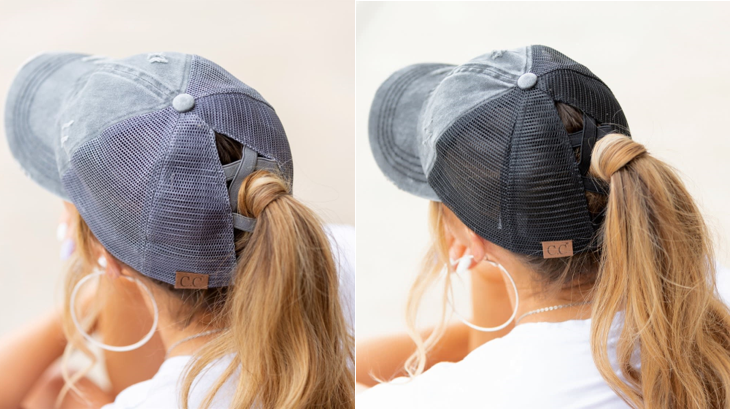 C.C Criss-Cross Ponytail Caps – Ships for FREE!